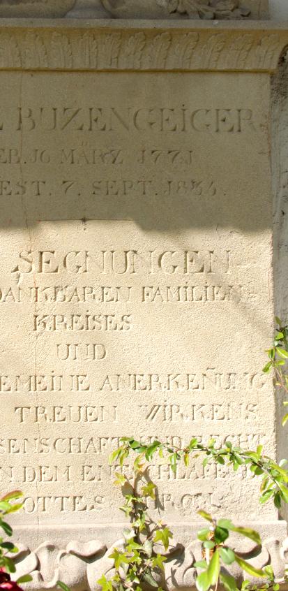 Grab von Carl Buzengeiger auf dem Alten Friedhof in Freiburg