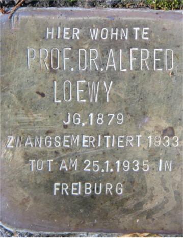 Stolpersteine für Alfred und Therese Loewy